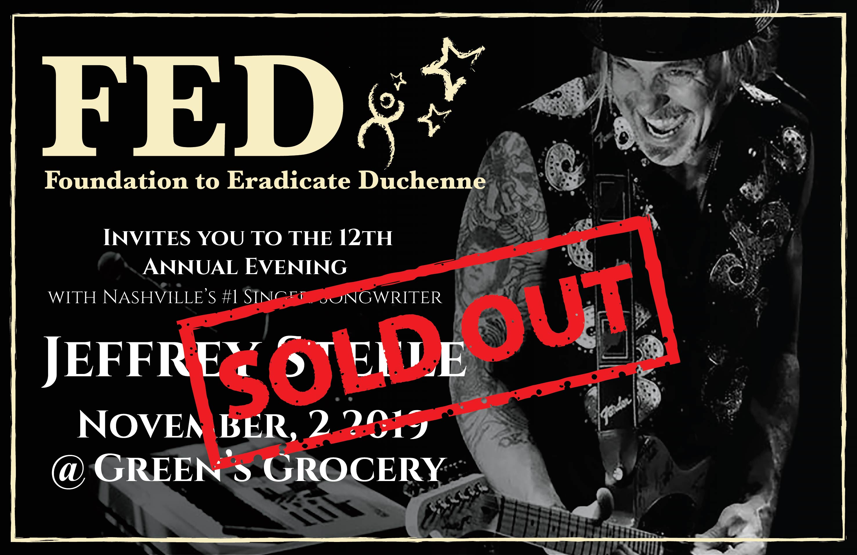 "12th Annual Jeffrey Steele Concert - <span style=""color:red"">SOLD OUT!</span>"