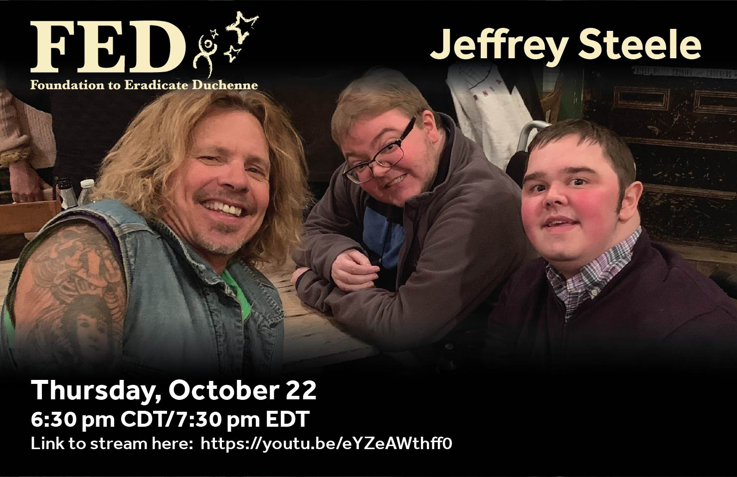 13th Annual Virtual Evening with Jeffrey Steele